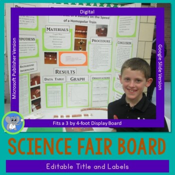 Science fair project labels and title template by kimberly for Science fair labels templates