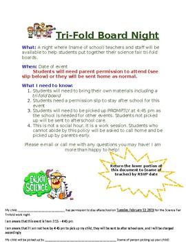 Science Fair- Tri-fold Board Work Night