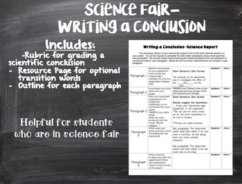 Science Fair- Writing a Conclusion