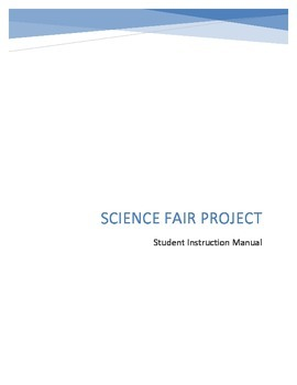 Science Fair complete program upper elementary (instruction manual)