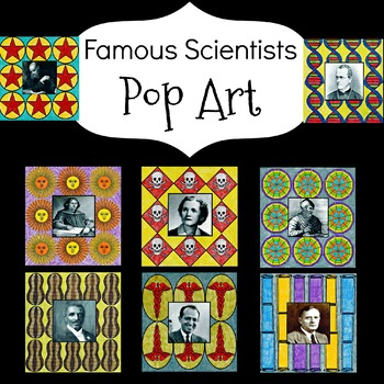 Science Famous People Pop Art Inspired Coloring Sheets