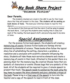 Science Fiction Book Report or Book Speech with Project