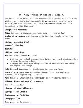 Science Fiction Exploration Workbook