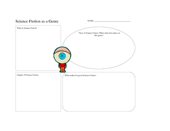 Science Fiction Genre Listening Passage, Graphic Organizer and Quiz