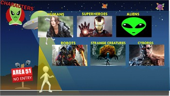 Science Fiction Genre Study - Interactive Powerpoint Animated Adventure