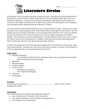 Science Fiction Literature Circles (complete resource bundle)