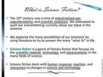 Science Fiction PowerPoint Resources and Activities