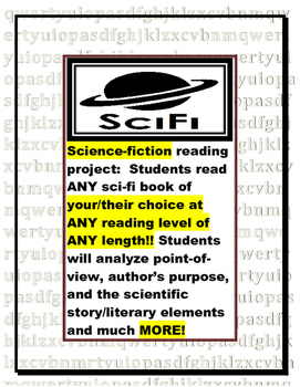 Science Fiction Book Report: Reading Response Pages (genre
