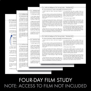 science fiction short story film analysis 5 day lit movie worksheets ccss. Black Bedroom Furniture Sets. Home Design Ideas