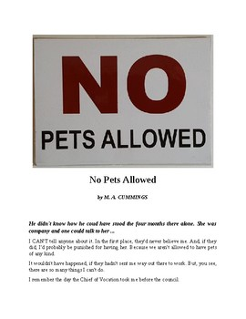 """Science Fiction Short Story - """"No Pets Allowed"""""""