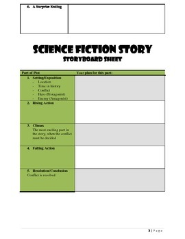 Science Fiction Story Writing Project