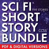 Science Fiction Bundle, Sci Fi Short Stories & Movie Analysis, Sci Fi Fun, CCSS