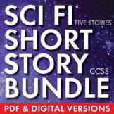 Science Fiction Bundle, Sci Fi Short Stories & Movie Analysis, Sci Fi Fun, CCSS
