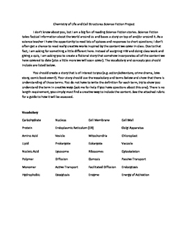 Science Fiction Writing for Biology - Cell Structure, Bacteria, and Viruses