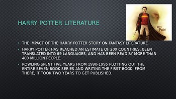Science Fiction and Fantasy Lecture #15: Harry Potter Literature