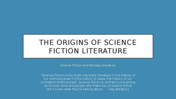 Science Fiction and Fantasy Lecture #16: Origins of Science Fiction Literature