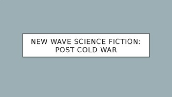 Science Fiction and Fantasy Lecture #18: 50s and 60s Science Fiction Literature
