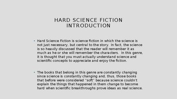 Science Fiction and Fantasy Lecture #23: Hard Science Fiction Literature