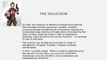 Science Fiction and Fantasy Lecture #24: Star Wars Science Fiction Literature