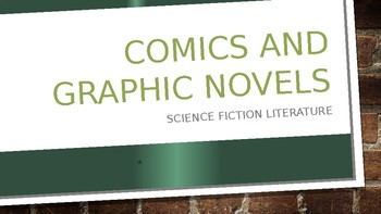 Science Fiction and Fantasy Lecture #26: Comics Science Fiction Literature