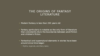 Science Fiction and Fantasy Lecture #30: Elements of Science Fiction Literature