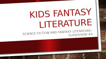 Science Fiction and Fantasy Lecture #4: 60s 70s, and 80s Fantasy Literature