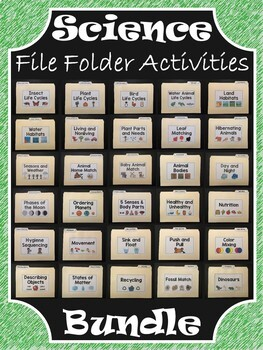 Science File Folder Activities ~ BUNDLE