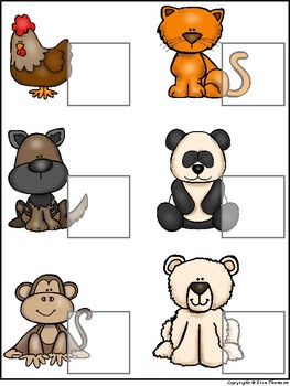 Science File Folder Activity ~ Baby Animal Match