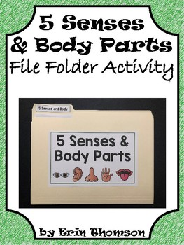 Science File Folder Activity ~ Five Senses and Body Parts