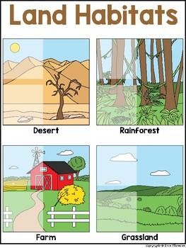 Science File Folder Activity ~ Land Habitats