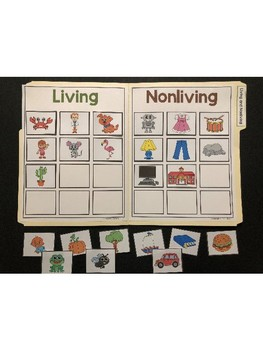 Science File Folder Activity ~ Living and Nonliving