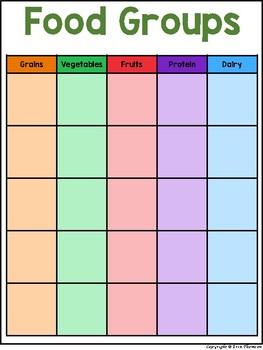 Science File Folder Activity ~ Nutrition