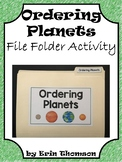 Science File Folder Activity ~ Ordering Planets
