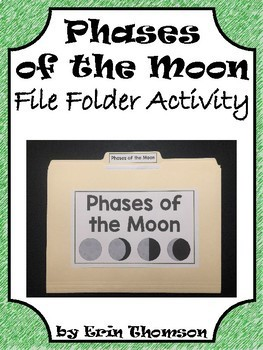 Science File Folder Activity ~ Phases of the Moon {Bonus Eclipse Activity}