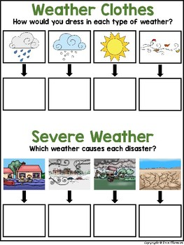 Science File Folder Activity ~ Seasons and Weather