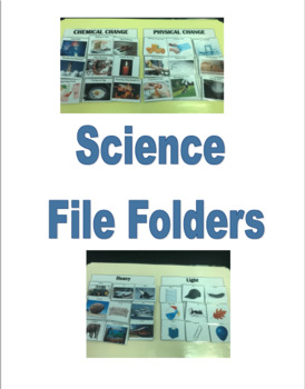 Science File Folder Bundle Pack Special Education