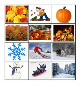 Science File Folder- Four Seasons Sort