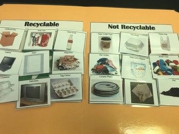 Science File Folder Game- Is It Recyclable? Sort