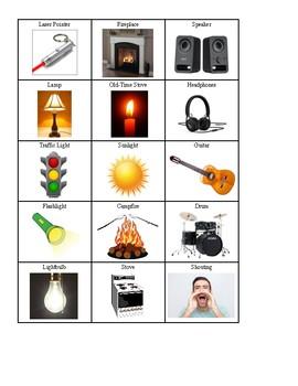 Science File Folder Game- Types of Energy Sort