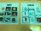 Science File Folder- Hot and Cold Sort