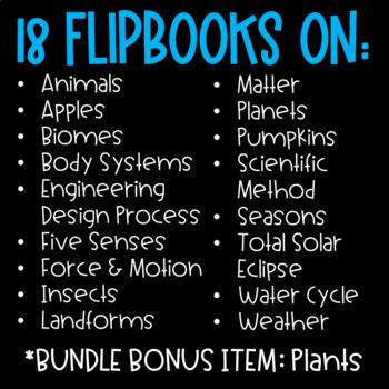 Science Activities (Science Flipbooks BUNDLE)