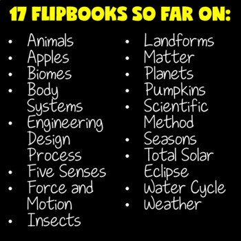 Science Activities (Science Flip Books BUNDLE)