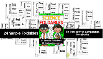 Science Foldable Flipbooks {24 Simple Foldables for ALL YEAR} (TEKS & CCSS)