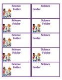 Science Folder Labels for your classroom