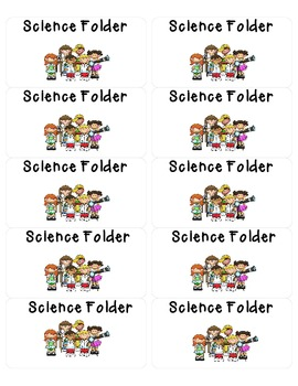 Science Folder Printable Labels