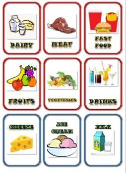 Science: Food and Food Groups Matching Card Game