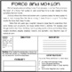 Force & Motion/ Newton's Laws! 5 Comprehension Articles w/