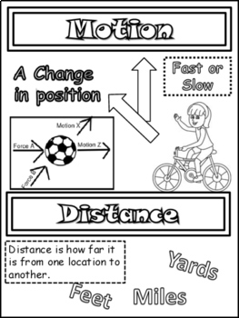 Science: Forces and Motion Doodle Notes