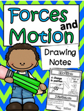 Science: Forces and Motion Drawing Notes