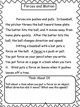 Science: Forces and Motion Unit